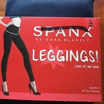 New Spanx Sara Blakely Look at Me Now Leggings Port Navy Shape-Wear Size L Nwt Photo