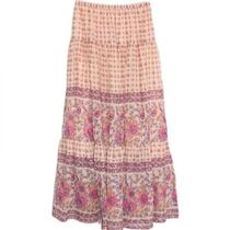 New Spell & the Gypsy Collective Desert Rose Maxi Skirt Blush M Photo