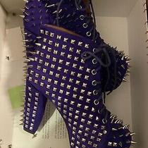 New Spiked Studded Electric Purple Jeffrey Campbell Boots (Size 8) Photo