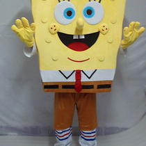 New Sponge Bob Mascot Fancy Dress  Foam Head Free Shipping to Us Photo