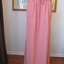 New  St John Knit Size M Womens Long Silk Skirt Casual Color Pink Rose Quartz Photo