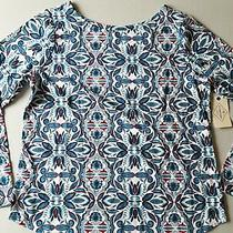 New St. John's Bay Long Sleeve Floral Tee Top Size M  Nwt Photo