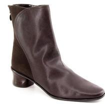 New St John's Bay Women Brn Leather Comfort Ankle Heel Back Zip Boot Shoe Sz 7 M Photo