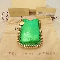 New Stella Mccartney Falabella Iphone 4-5 Cell Phone Case Green Crackle Photo
