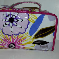 New Stephanei Johnson Floral Train Case Travel Cosmetic ..mothers Day Photo