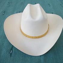 New Stetson Triunfo Natural 1000x Straw Western Cowboy Hat Size 7 56cm  Photo