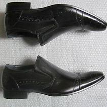 New Steve Madden Adolfo Dress Black Leather Shoes Size 8 Photo