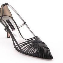 New Steve Madden d'orsay Women Leather High Heel Strappy Slingback Shoe Sz 10 B Photo