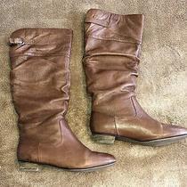 New Steve Madden Size 8 Calf Length Brown Flat Boots Photo