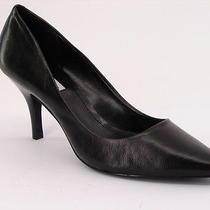New Steve Madden Women Black Leather High Heel Pump Pointy Toe Shoe Sz 8.5 M  Photo