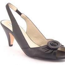 New Steve Madden Women Blk Leather Peep Toe High Heel Slingback Pump Shoe Sz 7 M Photo