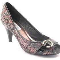 New Steve Madden Women Fabric High Heel Peep Toe Paisley Pump Shoe Sz 7.5 M Photo