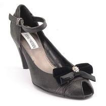 New Steve Madden Women Leather Evening Pump High Heel Peep Toe Dress Shoe Sz 6   Photo