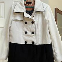 New Steve Madden Women's Colorblock White Black Peacoat Jacket Coat Sz Xl Photo