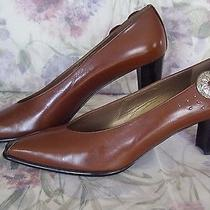 New Stewart Weitzman  8.5 Aaaa Classy Chestnut Leather Pumps  Decorative Concho Photo
