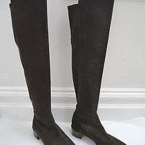 New Stuart Weitzman 5050 Dark Brown Suede Micro Stretch Over the Knee Boots 39 Photo
