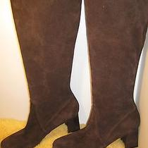 New Stuart Weitzman Stretch Suede Brown Stocking Knee High Boot  in Size 7w  Photo
