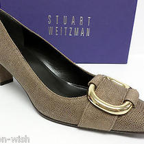 New Stuart Weitzman 'Thetube' Taupe Brown Size 7 Heels Pumps or Shoes W/box Photo