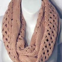 New Style Blush Pink Cable Knit Weave Loop Infinity Scarf Photo