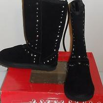 New Style & Co Bolted Size 7 M Women's Black Faux Fur Mid Calf Boot  Photo