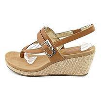 New style&co. Women's Jodii Cajun Spice Platform Wedge Thong Sandals 7.5 M Us Photo