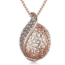 New Style Fashion Jewelry 18k Rose Gold Plated Austrian Crystal Necklace N1178 Photo
