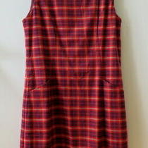New Stylish Ginger Chloe Check Pinafore Dress From Princess Highway - Size 10 Photo