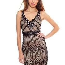 New Sue Wong Black Nude Beaded Short Formal Party Cocktail Evening Dress Size 14 Photo