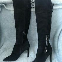 New Suede Dolce Vita Tall Black Boots Women's Size 8.5 Photo