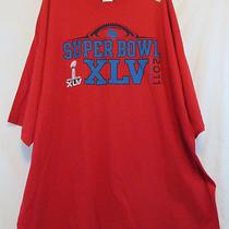 New Super Bowl Xlv Dallas Tx 3xl Red T-Shirt Reebok Xxxl Sb 45 Nwot Photo