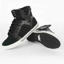 New Supra Skytop Black Croc White Skate Skateboard Hip Hop Rap Sports Shoes 14 Photo