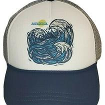 New Surf Ocean Wave Patagonia Kids Trucker Hat White Gray Navy Snapback  Photo