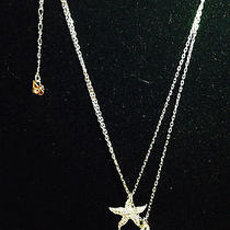New  Swarovski Crystal  Sparkling Stars  Necklace  Photo