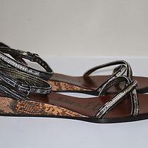 New Sz 10.5 / 40.5 Lanvin Mini Cork Wedge Open Toe Sandal Women Shoes Photo