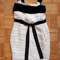 New Sz 38 / 4-6 Yves Saint Laurent Tiered Silk Dress 2895 Black White 2006 Photo
