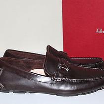 New Sz 7.5 D Salvatore Ferragamo Brown Leather Sabatino 2 Driving Slip on Shoes Photo