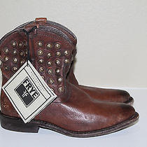 New  Sz 8.5 Frye Wyatt Disc Brown Leather Short Ankle Riding Boots Shoes Photo