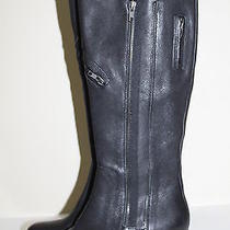 New Sz 9.5  / 41 Wang Footwear Evan Black Leather Biker Riding Boot Shoes  Photo