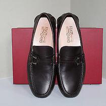 New Sz 9.5 D Salvatore Ferragamo Brown Leather Sabatino 2 Driving Slip on Shoes Photo