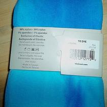 New Sz S/m Teal Aqua Ocean Blue Tie Dye Capri Legging Tights Nobo Photo
