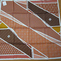 (Newtags) Carre en Cravates Hermes Scarf 70cm 100% Vintage Silk Carre Photo