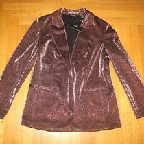 New Tahari Women's Blazer Jacket Size 10 Bronze Shine Metallic Jacket Nwt Photo