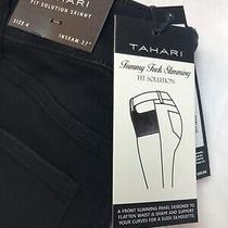 New Tahari Women's Size 4 / 27 Black Skinny Fit Chloe Jeans Msrp 89.00 Photo