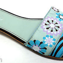 New Talbots Blue Fabric Slide Sandals Size 8 Shoes Photo