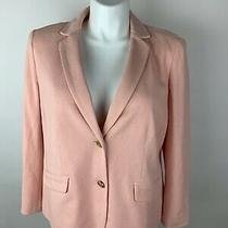 New Talbots Blush Pink Knit Blazer Jacket 16w Petite 16 W Lovely Photo