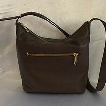New Talbots Brown Leather Hobo Shoulder Purse Zippered Closure Photo