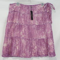 New Talbots Purple Tiered Tie Dye Skirt Womens 18w Nwt 99 Photo