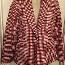New Talbots Wool Blend Check Jacket Blazer Size 2  Photo