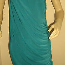 New Teal Miss Blush Embellished One Shoulder Drape Dress Size 14 Photo
