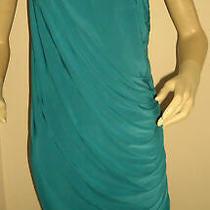 New Teal Miss Blush Embellished One Shoulder Drape Dress Size 14 Photo